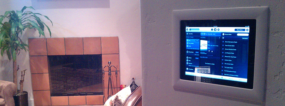 In-Wall iPad with View of Sonos App