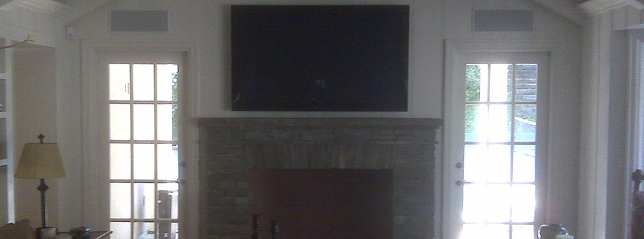 Over Fireplace Home Theater