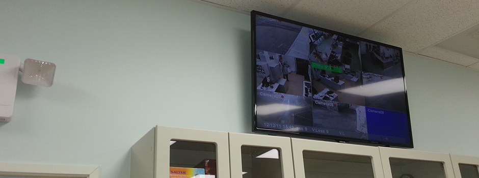 Vet Office CCTV 9 Channel Display